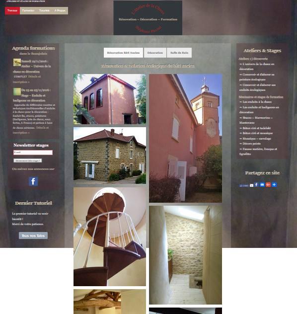Accueil site internet Atelier Chaux