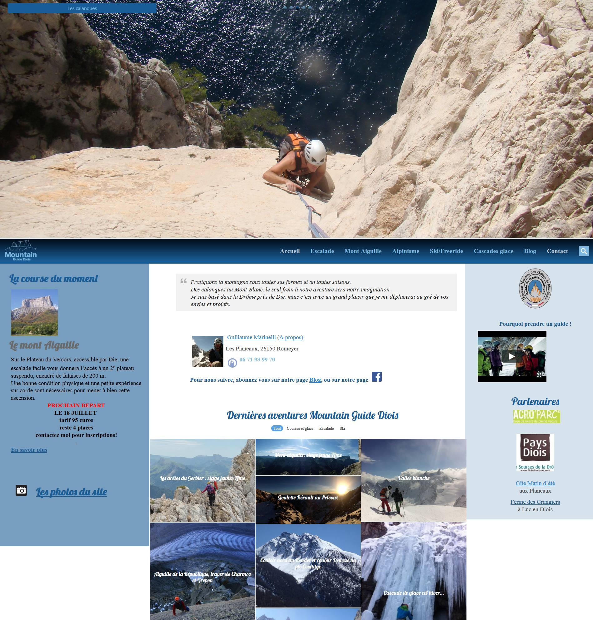 Accueil site web Mountain Guide Diois
