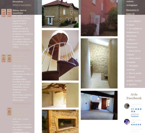 Accueil site web Atelier de la Chaux