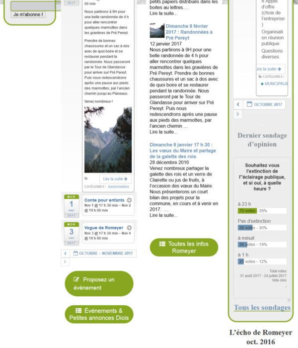 Accueil site internet maquette mairie