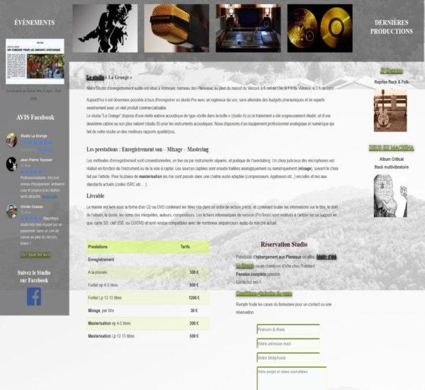 Accueil site internet Audio Presta