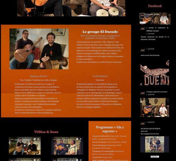 Site web musicien El Duende