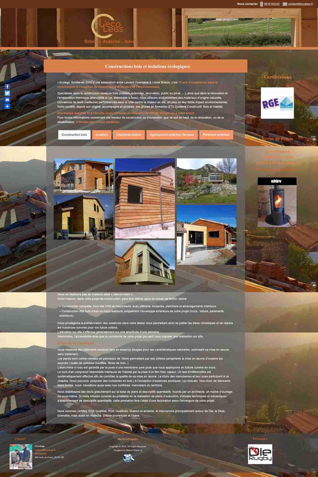 Conception site internet à Die, Drôme, par WinWinWeb
