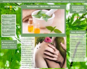 accueil site web atmosphere