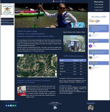 Site internet Yvan Loisirs