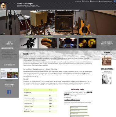 Accueil site web AudioPresta