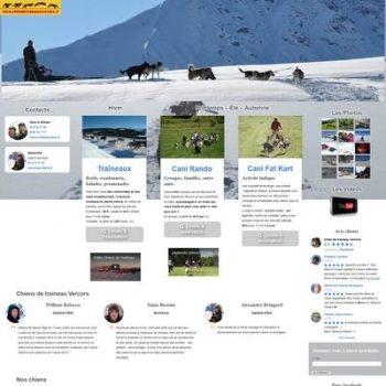 Site internet Chien de traîneau Vercors