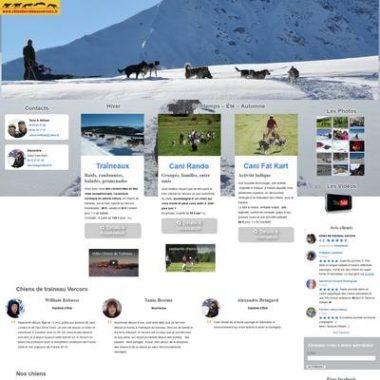 Accueil site internet Chien de traîneau Vercors