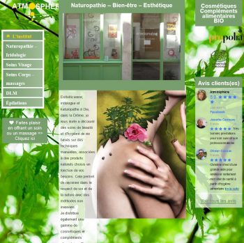 Site web institut santé & bien-être Atmosphère